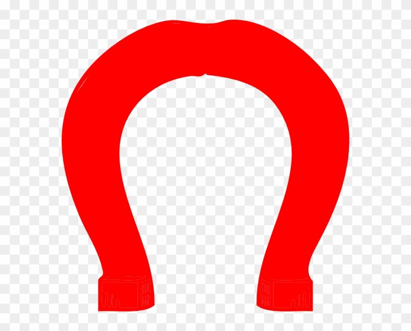 Red Upside Down Horseshoe Logo #88996