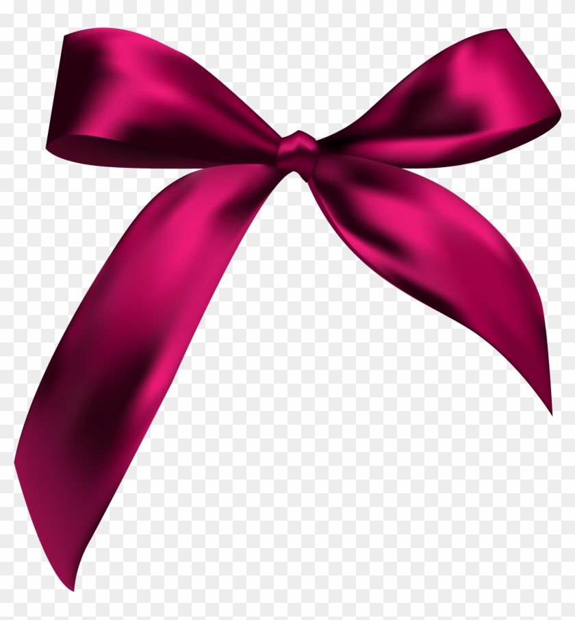 Beautiful Dark Red Bow Png Clipart - Bow Png #89054