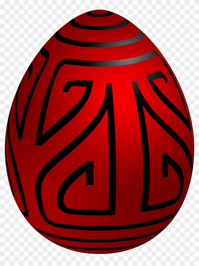 Easter Red Deco Egg Png Clip Art - Egg #89080