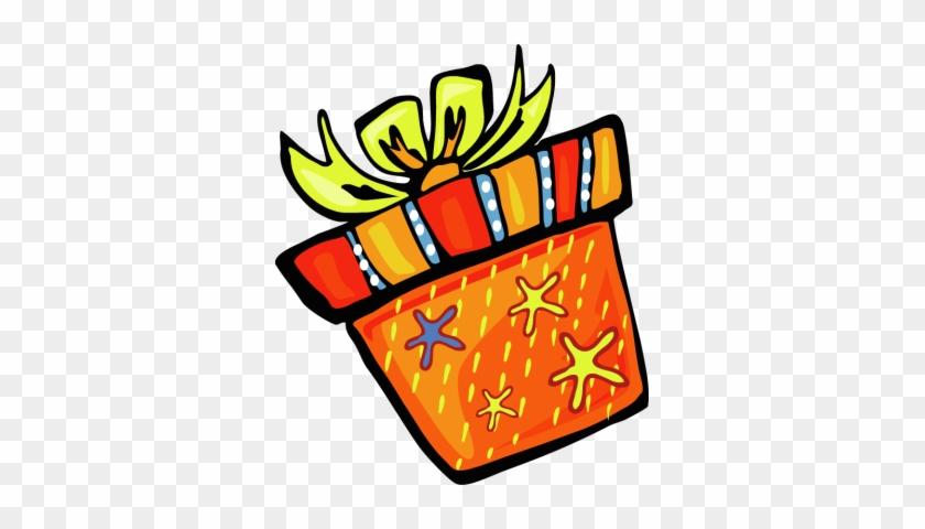 Orange Cylinder Gift Box - Orange Birthday Gifts Clipart #89110