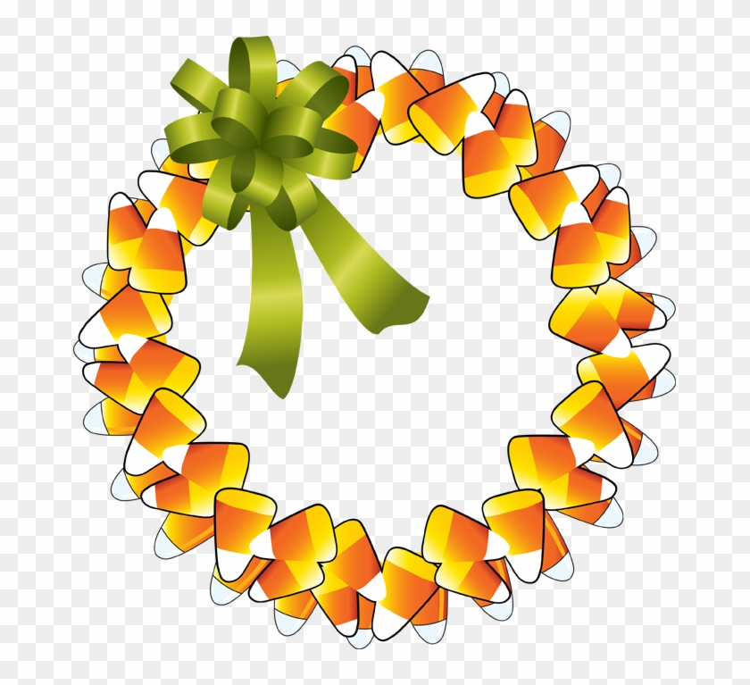 Clipart Happy Thanksgiving - Candy Corn Wreath Clipart #89142
