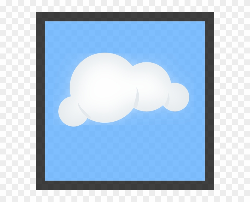 Cloud Blue Background 72px Clip Art At Clker - Cartoon Cloud With Blue Background #89171