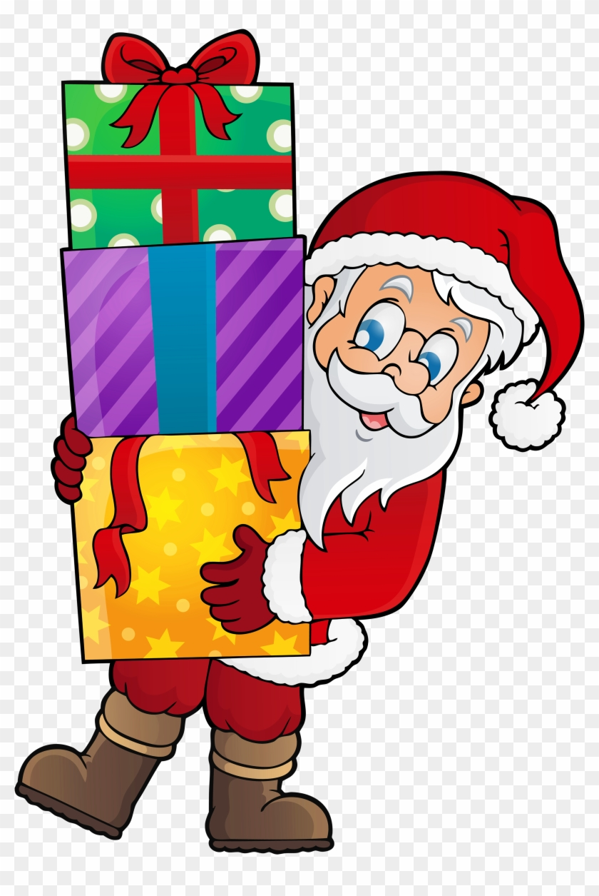 Transparent Santa With Presents Png Clipart - Christmas Day #89179