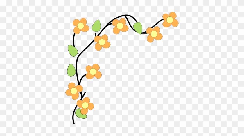 Fall Flower Design Clipart Png Png Images - Flower Clipart Border Transparent #89451
