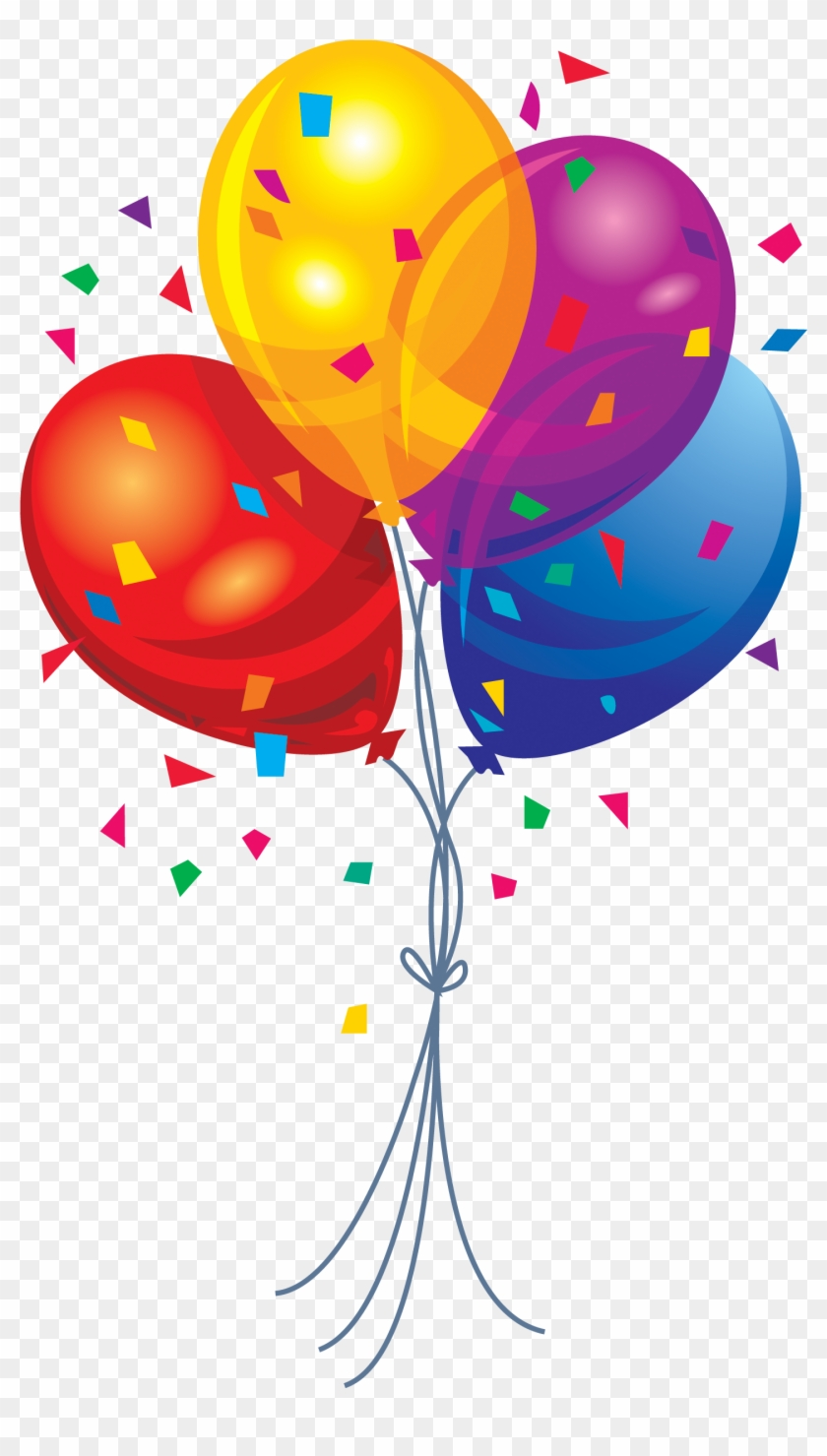 Happy Birthday Balloons Clipart - Birthday Balloons Png #89472