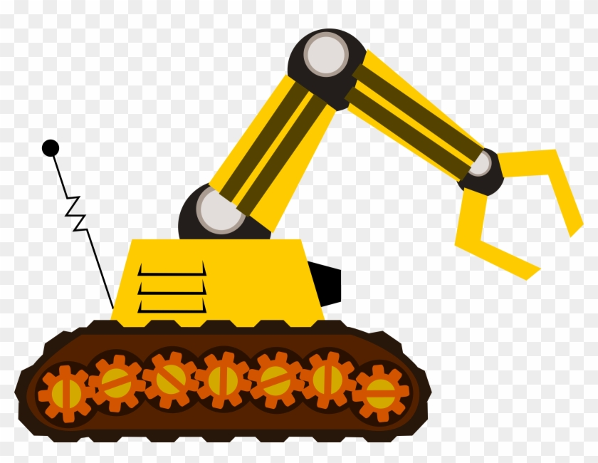 Free Robot With Claw Clip Art - Machine Clipart #89481