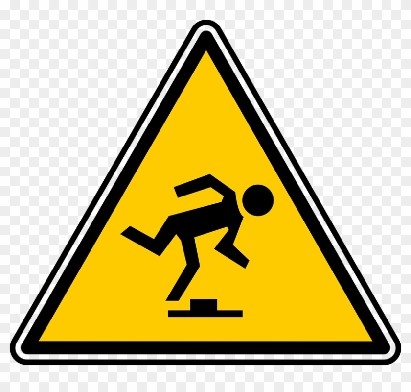 Manhole Fall Trip Signs Symbols Warning Hazard - Sinal De Baixa Temperatura #89499