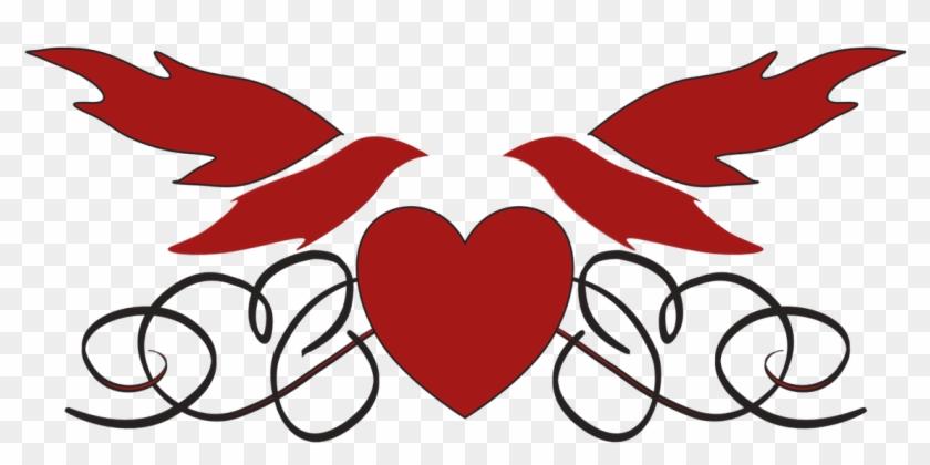 Wedding, Heart Doves Love Romance Transparent Icon - Zusammen Für Immer Mousepads #89547