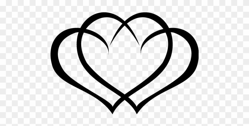 Heart Wedding Clipart - 3 Interlocking Hearts Tattoos #89601