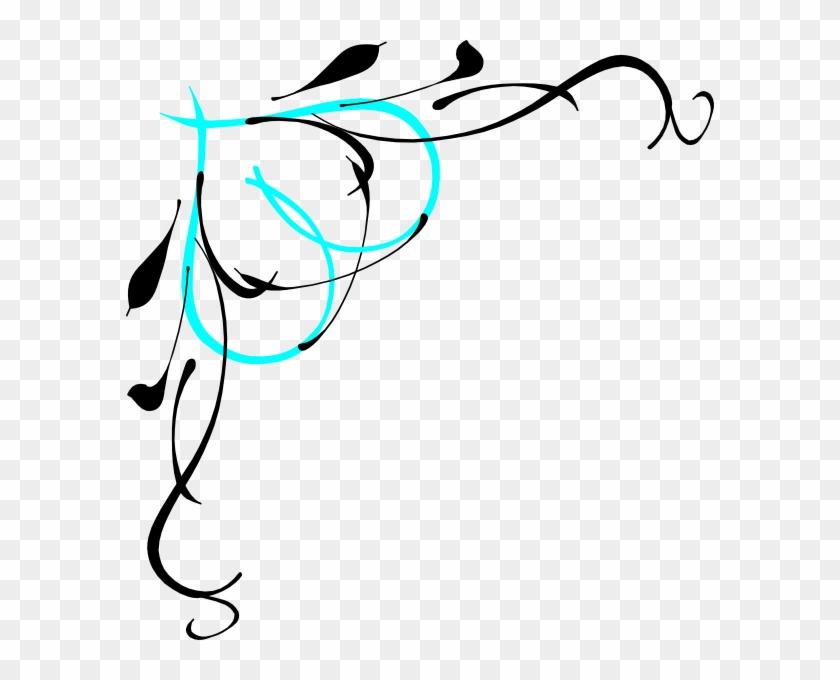 Vine Heart2 Clip Art At Clker - Bridal Shower Border Clipart #89639