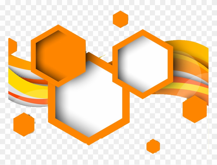 Hexagon Geometric Shape Geometry - Orange Geometric Shape Png #89642