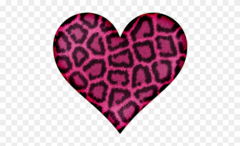 Pink Heart With Leopard Print Icon, Png Clipart Image - Pink Leopard Print Heart #89685