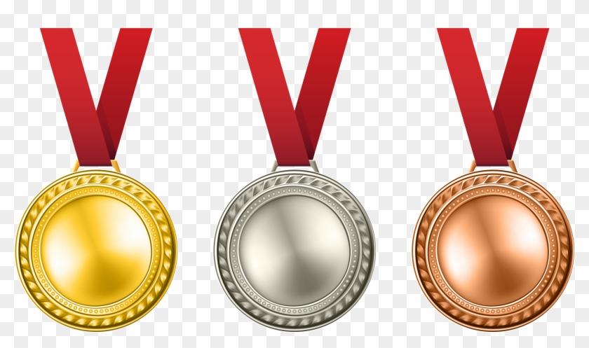Medals Set Transparent Png Clip Art Image - Medals Png #89721