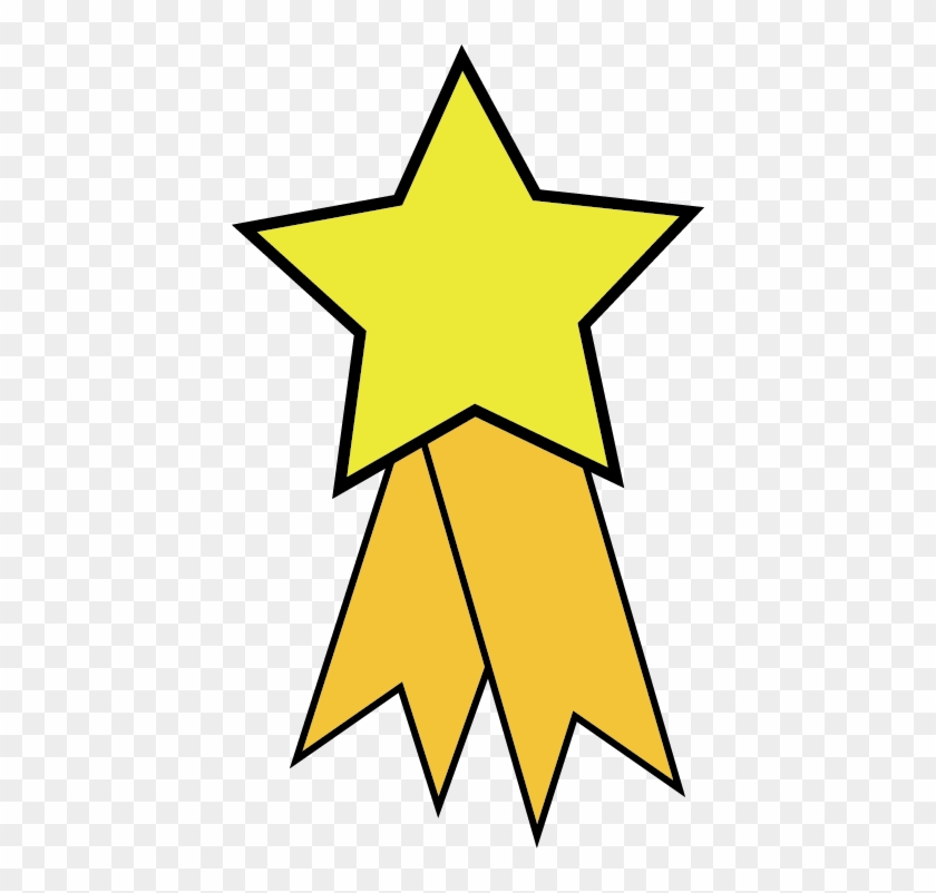 Star Award Ribbon Clipart - Yellow Clip Art Stars #89755