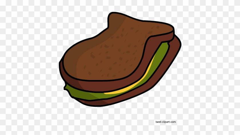 Free Brown Bread And Lettuce Sandwich Free Clip Art - Lettuce Sandwich #89831