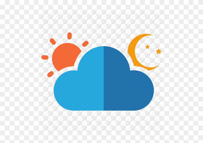 Set Of Weather Icons Day And Night Vector Clipart - Day And Night Icon #89888