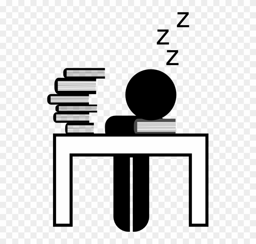 The Crash That Comes Along With All-night Study Sessions - Studying All Night Clipart #89893
