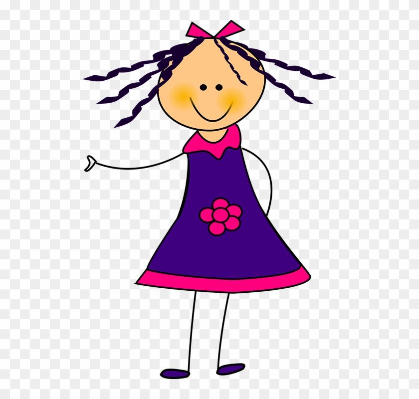 Clipart Girl In Dress #89909