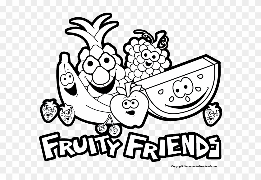 Click To Save Image - Fruits Clipart B W #89924
