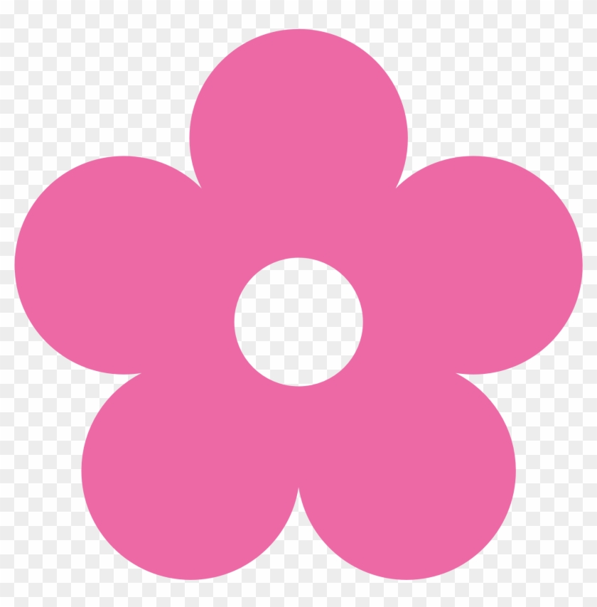 Pink Flower Clipart Simple Flower Pencil And In Color - Flower Clipart Color #89927