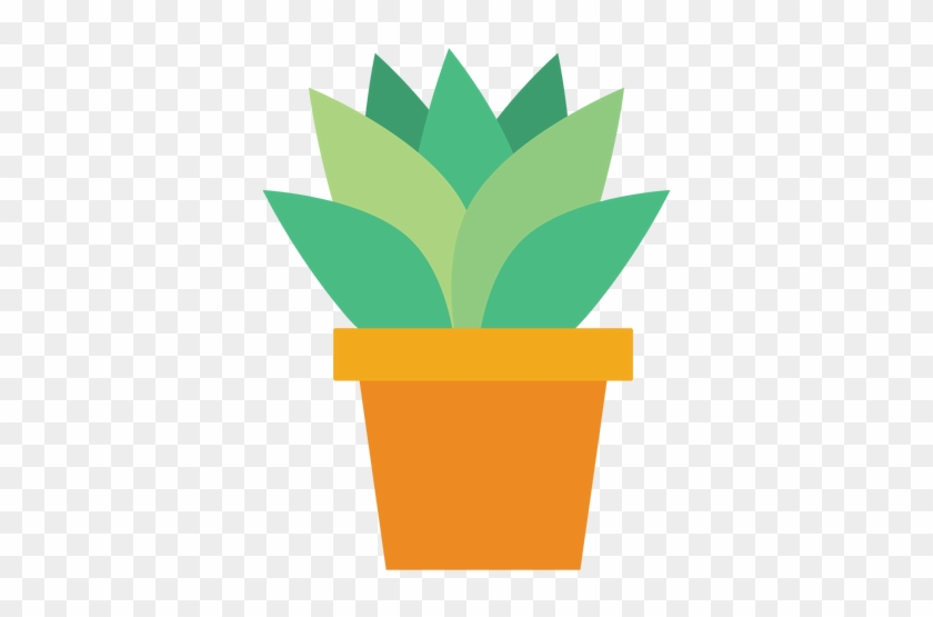 Flowerpot With Cactus Clipart - Cactus Clipart Png #89997