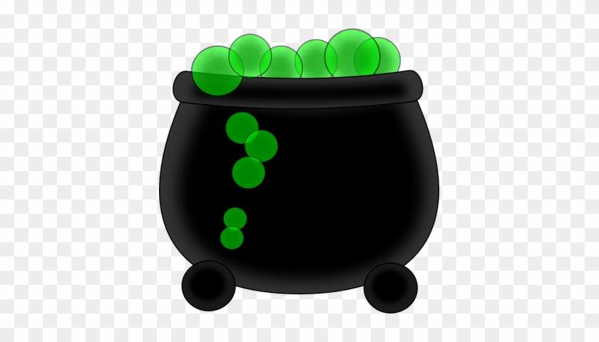 Witch Clipart Bubbling Cauldron - Witch Pot Clip Art #90075