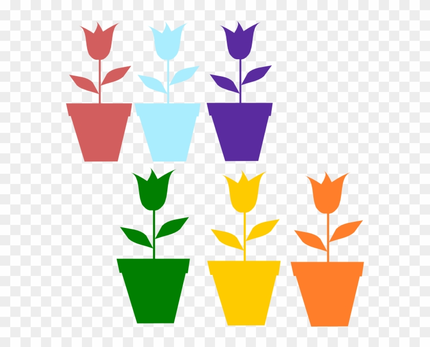 Flower Pot Silhouette Png #90189