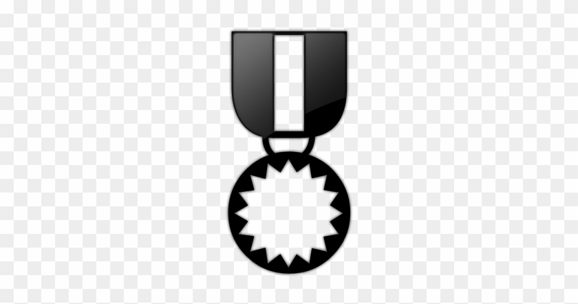 Star Award Clipart Black And White - Medal Icon Gray #90259