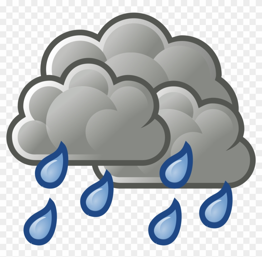 Dark Cloud Rainy Clipart - Rainy Cloud #90279
