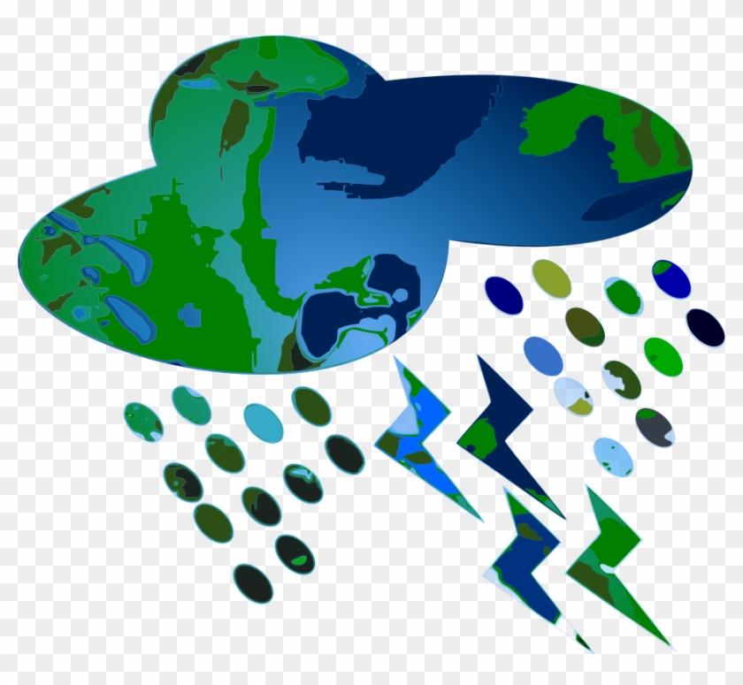 This Free Clip Arts Design Of Rain On Planet - Heavy Rain Clip Art #90349