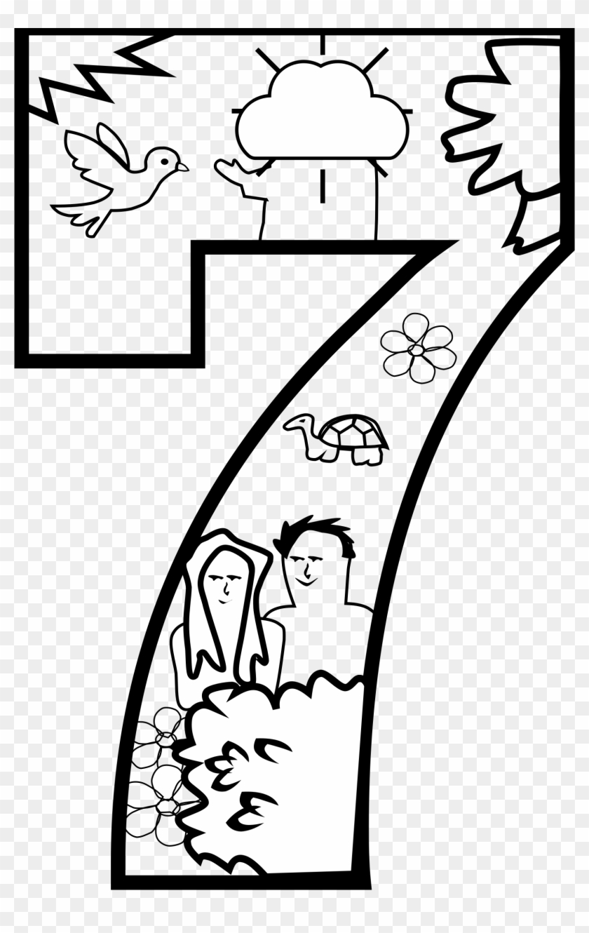 Big Image - Day 7 God Created Coloring Page #90370