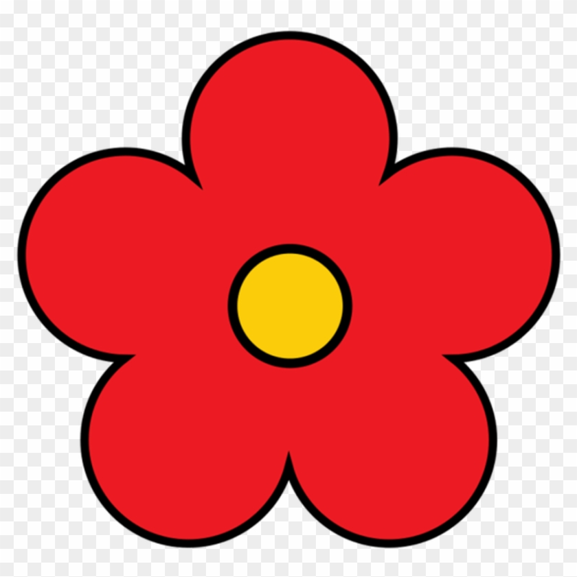 Simple Flower Cliparts Free Download Clip Art Free - Cute Red Flower Clipart #90372