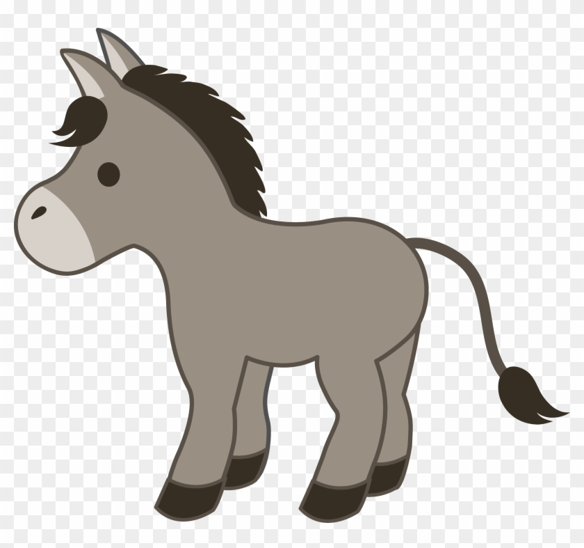 Free Clipart Blessing Of The Animals Cute Gray Donkey - Cute Horse Clip Art #90394