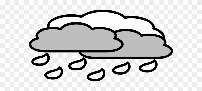 Rain Clipart Cloudy - Cloudy Rain Sky Clipart #90396