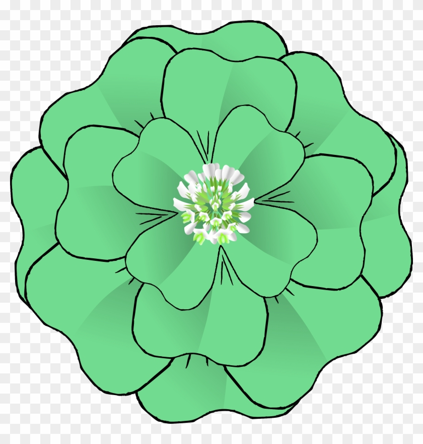 Big Image - Mint Green Flower Clip Art #90418