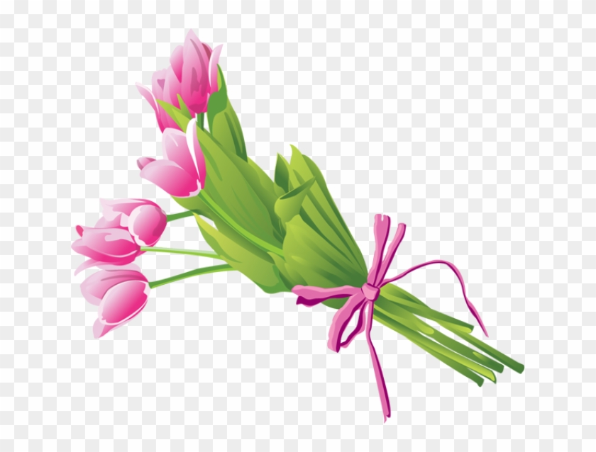 Bouquet Of Tulips - Flower Bouquet Clip Art Png #90476