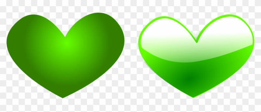 How To Set Use Green Heart 6 Svg Vector - Green Heart Clipart Png #90514