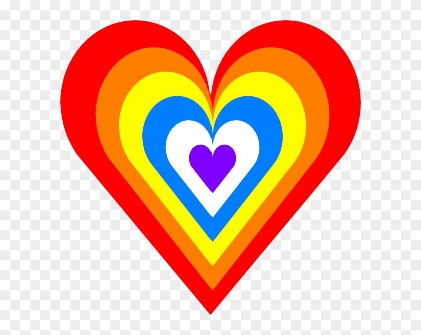 Heart Clipart Colorful - Rainbow Heart Clipart #90561