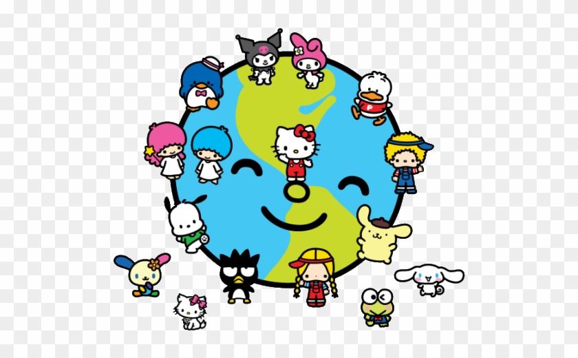 Sanrio Earth Day By Rafikafakhirart - Cartoon #90764
