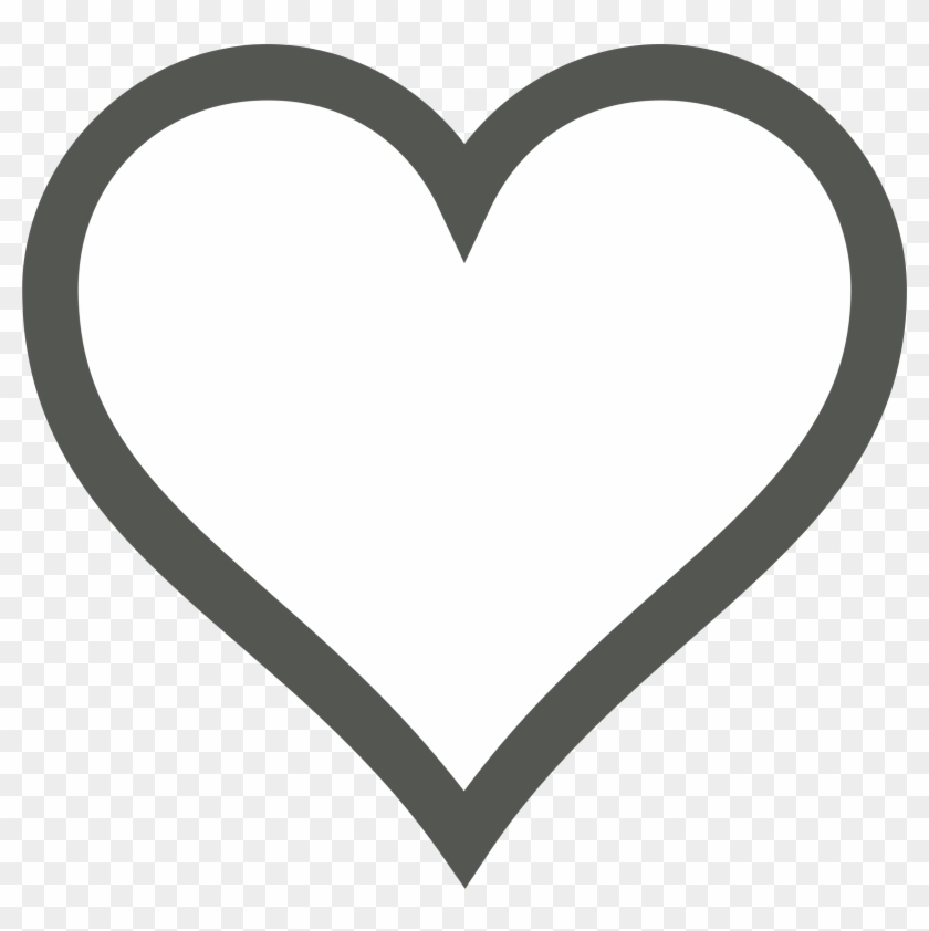 Two Hearts Clipart Black And White - Heart Icon Black And White #90802