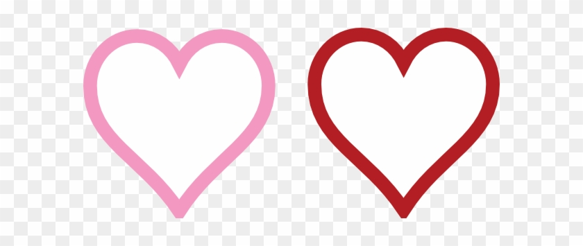 Two Hearts Lined Clip Art - Portable Network Graphics #90806