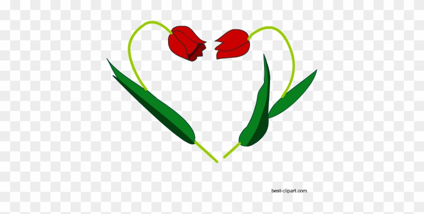 Heart Made With Flowers Clip Art - Clip Art #90869
