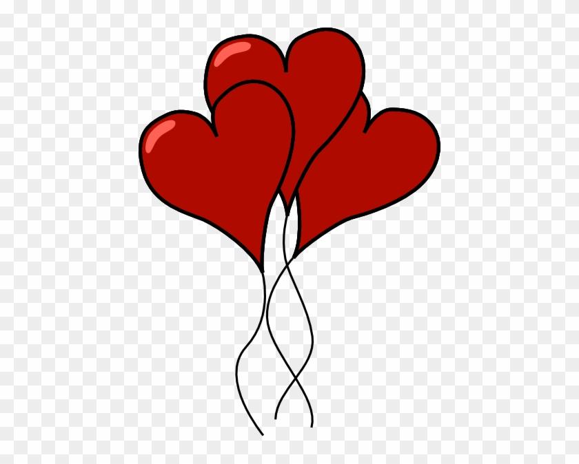 Heart 39 Clip Art At Clker - Heart Balloons Clip Art #90872