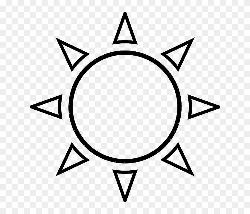 Sunny Weather Clip Art Black And White - Sun Clipart Black And White #90908