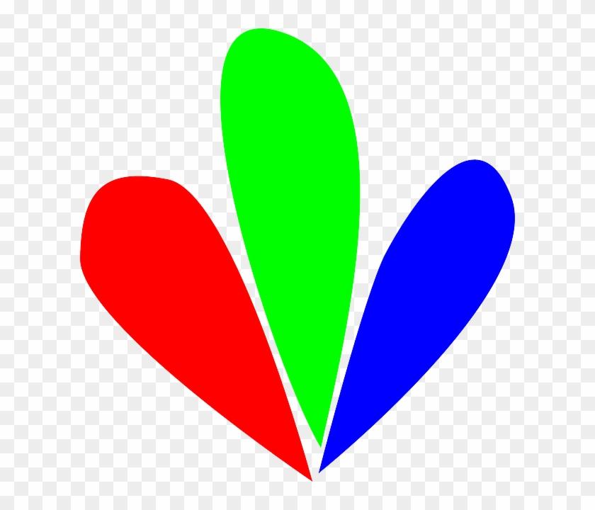 Flower Red, Sign, Green, Blue, Outline, Symbol, Flower - Flower Petal Clip Art #90930