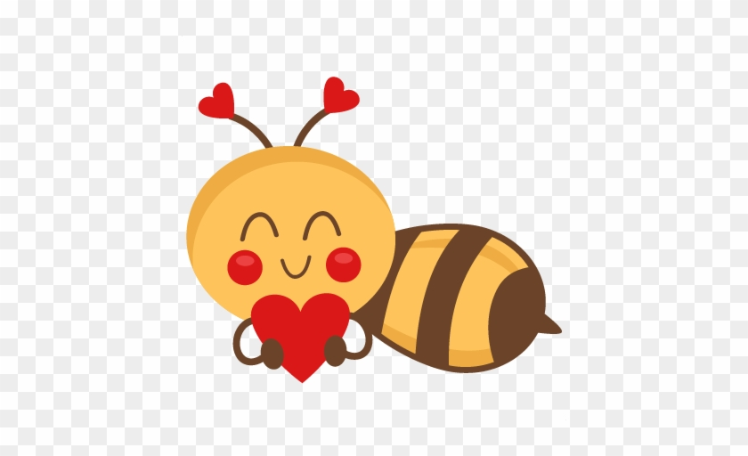 Bee Holding Heart Svg Scrapbook Cut File Cute Clipart - Huppme Love You Priyadharshini Bee Mine Forever Inner #90948