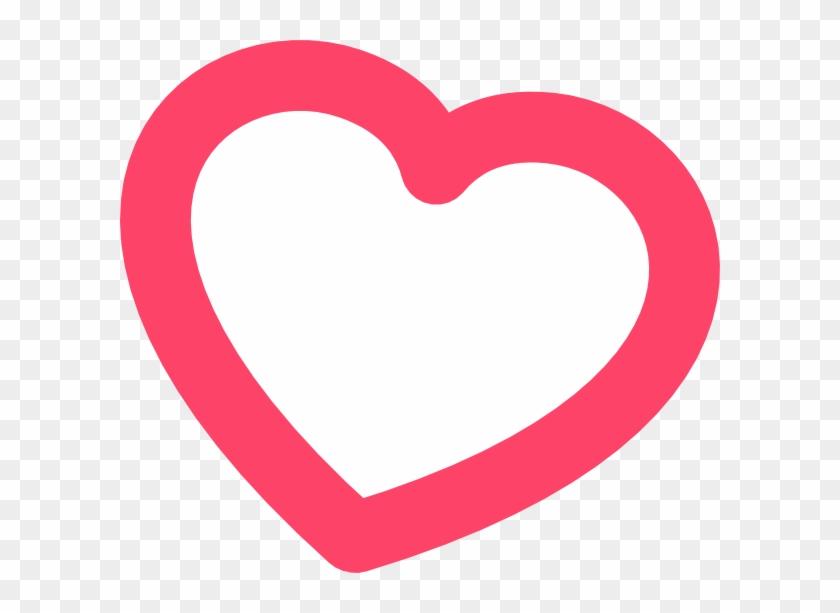 Red Heart Outline Clip Art - Heart #90962