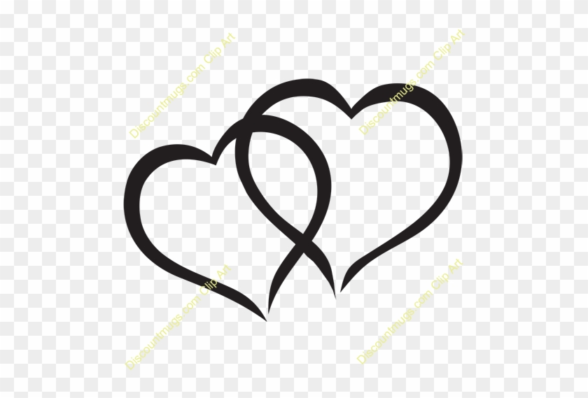 Overlap Of Hearts Clipart - Cute Hearts #90965