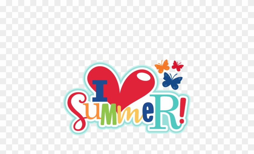 I Heart Summer Title Svg Scrapbook Cut File Cute Clipart - Summer Cute Clip Art #91044