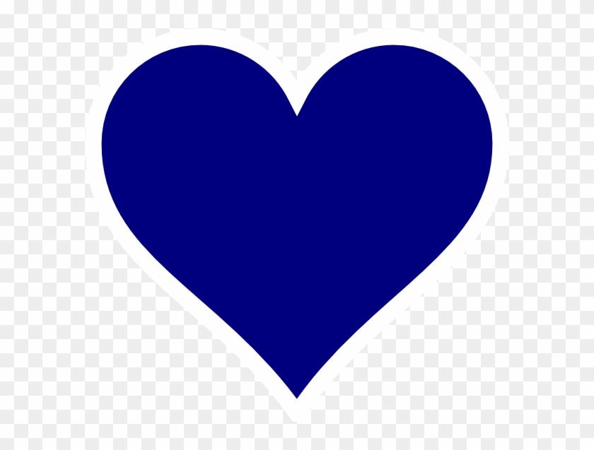Heart Dark Blue #91048